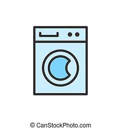 γραμμή , χρώμα , μηχανή , μικροβιοφορέας , διαμέρισμα , υπηρεσία , καθάρισμα , πλύση , icon.