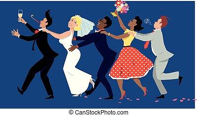 γραμμή , conga , γάμοs