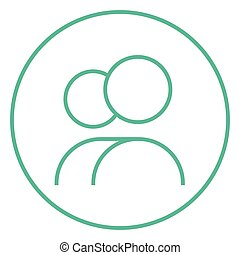 γραμμή , icon., άνθρωποι