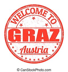 γραμματόσημο , αυστρία , καλωσόρισμα , graz