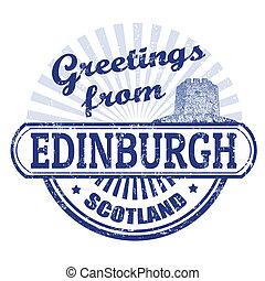 γραμματόσημο , εδιμβούργο , χαιρετίσματα