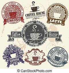 γραμματόσημο , καφέ αναθέτω