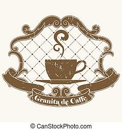 γραμματόσημο , καφέs