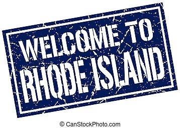 γραμματόσημο , νησί , καλωσόρισμα , rhode