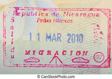 γραμματόσημο , νικαράγουα , τελωνείο