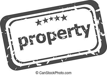 γραμματόσημο , πάνω , λάστιχο , φόντο , άσπρο , ιδιοκτησία, περιουσία