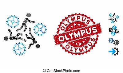 γραμματόσημο , τρέξιμο , olympus , εικόνα , άνθρωπος , ταχύτητες , κολάζ , στενοχωρώ
