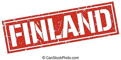 γραμματόσημο , φινλανδία , τετράγωνο , κόκκινο