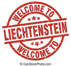 γραμματόσημο , liechtenstein , καλωσόρισμα , κόκκινο