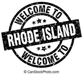 γραμματόσημο , rhode , καλωσόρισμα , μαύρο , νησί