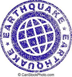 γραμματόσημο , textured , grunge , σεισμός , σφραγίζω
