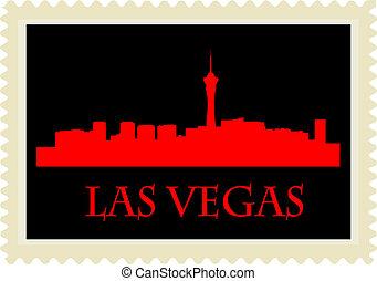 γραμματόσημο , vegas , las