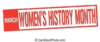 γραμματόσημο , women's , μήνας , σήμα , ή , ιστορία