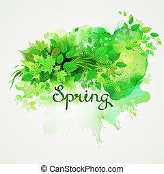 γραπτή λέξη , spring.