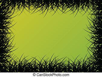 γρασίδι , λεπτομερής , περίγραμμα , τοπίο , εικόνα , φόντο , μικροβιοφορέας , για , αφίσα