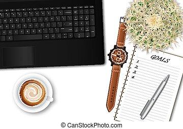 γραφείο , laptop , ttop, εφόδια , γραφείο , τραπέζι , αρσενικό , βλέπω