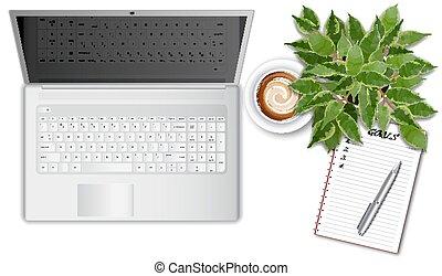 γραφείο , laptop , ttop, εφόδια , γραφείο , τραπέζι , βλέπω