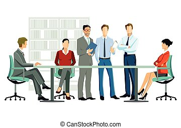 γραφείο , mitarbeiter, im