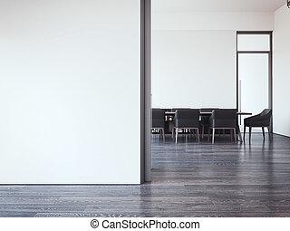 γραφείο , room., μοντέρνος , απόδοση , συνάντηση , 3d