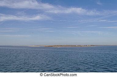 γραφικός αντίκρυσμα του θηράματος , texel, θάλασσα , νησί