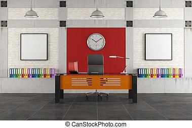 γραφικός , ανώγειο πάτωμα , γραφείο