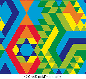 γραφικός , γεωμετρικός ακολουθώ κάποιο πρότυπο , από , τριγωνικό σήμαντρο , μέσα , ένα , felt-style