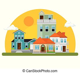 γραφικός , εμπορικός οίκος , μέσα , γειτονιά