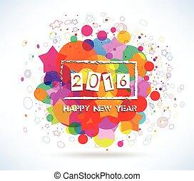 γραφικός , ευτυχισμένος , καινούργιος , 2016, έτος
