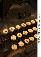 γραφομηχανή , λεπτομέρεια
