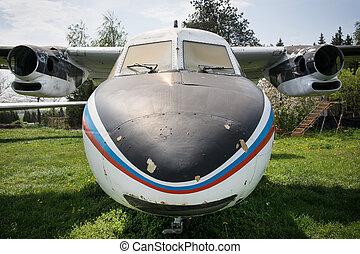 γριά, αεροπλάνο, πυγμάχος,  retro