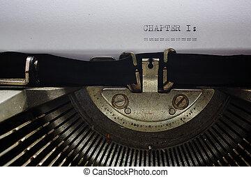 γριά , γραφομηχανή