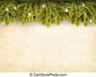 γριά , διακόσμηση , φόντο. , χαρτί , vector., xριστούγεννα