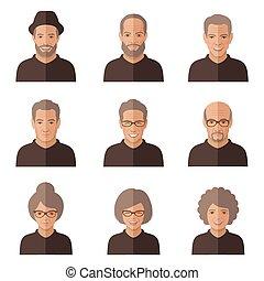 γριά , μικροβιοφορέας , face., άνθρωποι