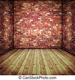 γριά , πάτωμα , τοίχοs , αφαιρώ , ξύλινος , εσωτερικός , τούβλο