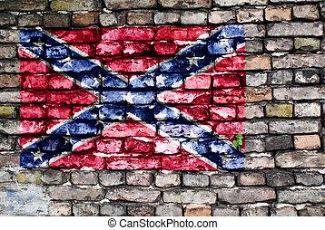γριά , στρατόs , απεικονίζω εξωτερικός τοίχος οικοδομής , σημαία , ομόσπονδος , τούβλο