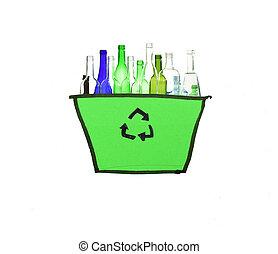 γυαλί , άσπρο , ανακύκλωση