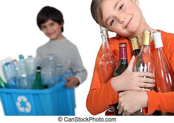 γυαλί , ανακύκλωση , δέμα , μικρόκοσμος