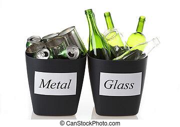 γυαλί , και , μέταλλο