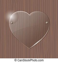 γυαλί , καρδιά