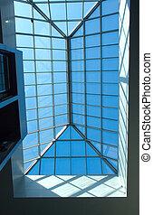 γυαλί , μέταλλο , buildimg, οροφή
