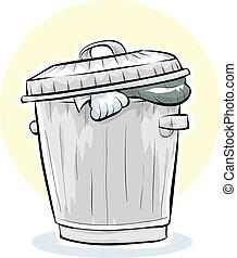 γυαλί σε κατάσταση τήξης απολύω , σκουπίδια