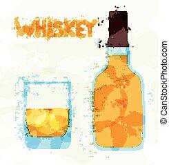 γυαλί , σκωτσέζικο ουίσκι