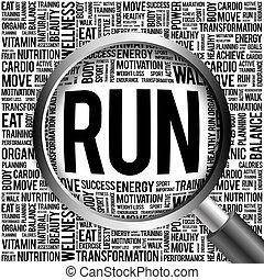 γυαλί , τρέξιμο , λέξη , αυξάνω , σύνεφο