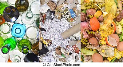 γυαλί , χαρτί , ενόργανος , ανακύκλωση