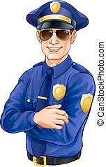 γυαλλιά ηλίου , αστυνομικόs