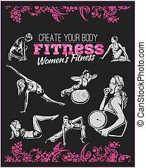 γυμναστήριο , - , μικροβιοφορέας , καταλληλότητα , womens , στοκ
