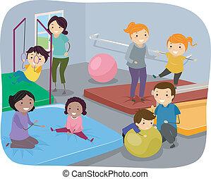 γυμναστήριο , οικογένεια