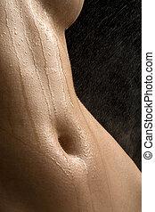 γυμνός , στούντιο , ανώνυμος , βρεγμένος