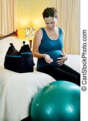 γυναίκα , έγκυος , - , μέτρο , εγκυμοσύνη , στένεμα