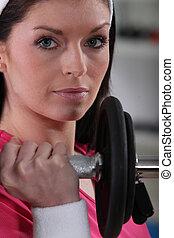 γυναίκα , αίρω αξία , αναμμένος άρθρο γυμναστήριο